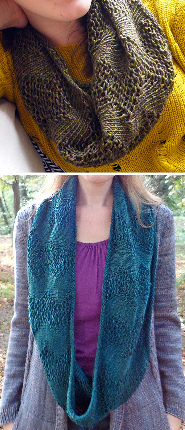 Free Knitting Pattern for Easy Twombly Lines Cowl
