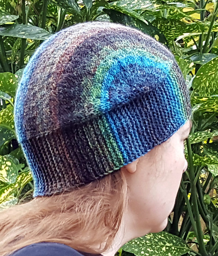Free Knitting Pattern for U-Turn Hat Knit Flat