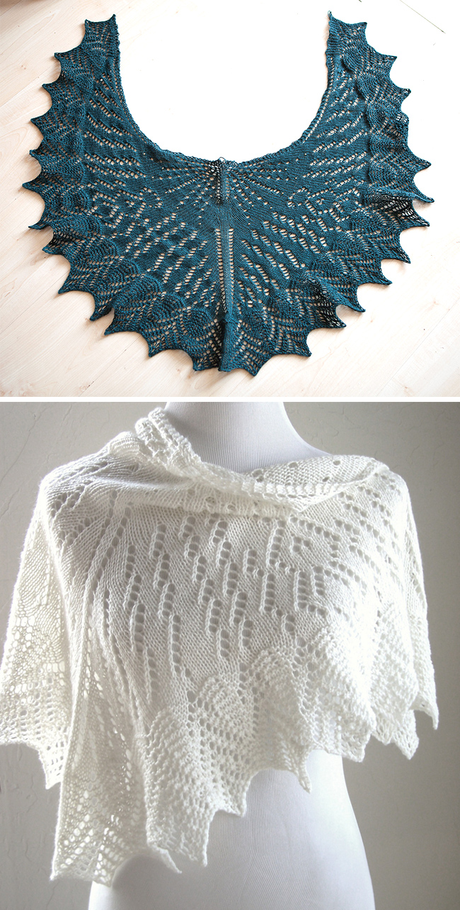 Free knitting pattern for Uhura lace shawl inspired by Star Trek