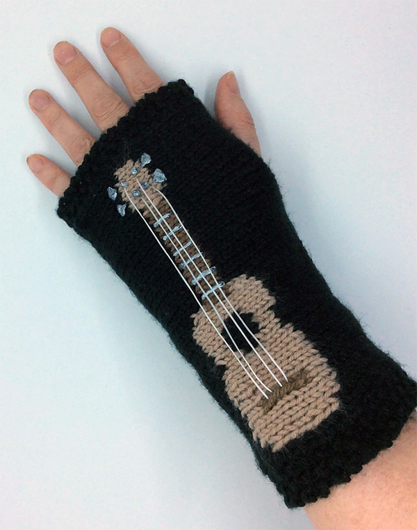 Knitting Pattern for Ukulele Hand Warmers