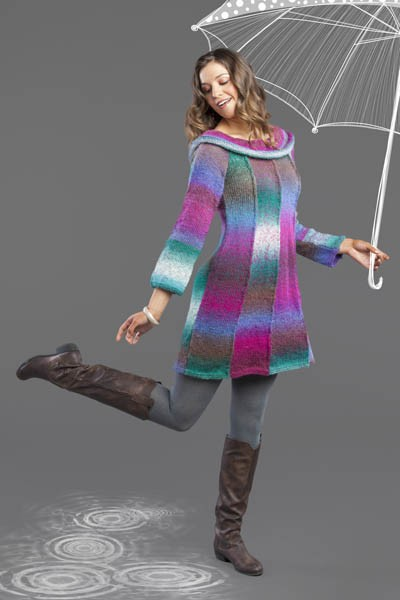 Free knitting pattern for Umbrella Dress
