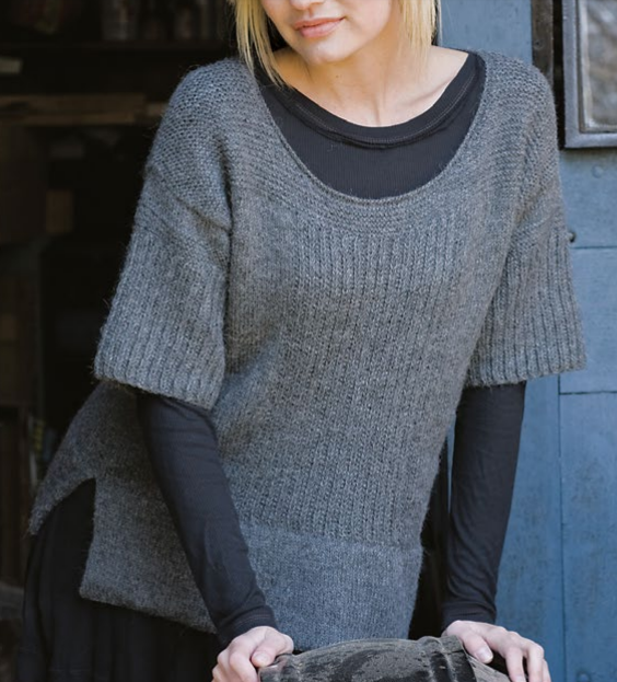 Free Knitting Pattern for Umiah Pullover Tee