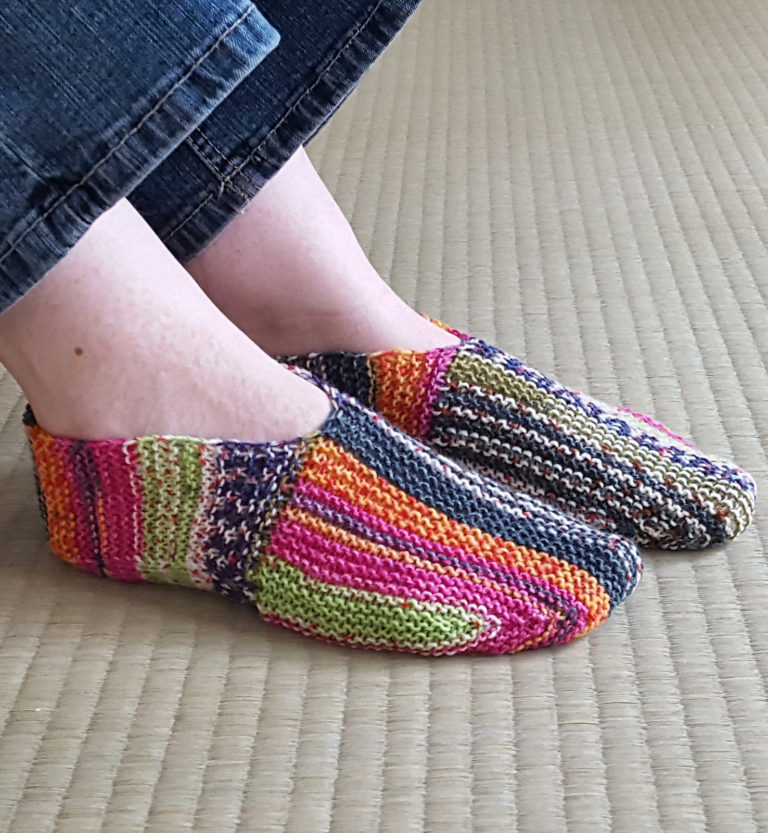 Free Knitting Pattern on Undecided Slippers