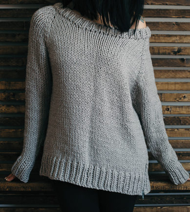 Knitting Pattern for Undone Pullover