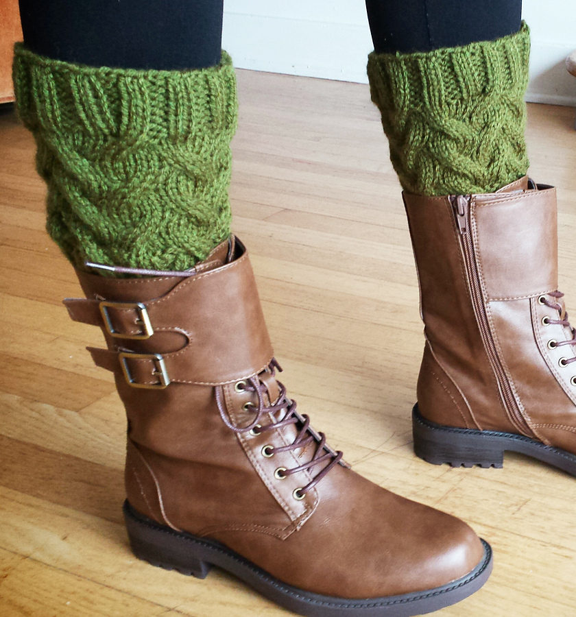 Free Knitting Pattern for Up on Top Boot Cuffs