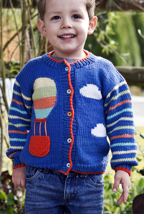 Free Knitting Pattern for Up Up And Away Sweater