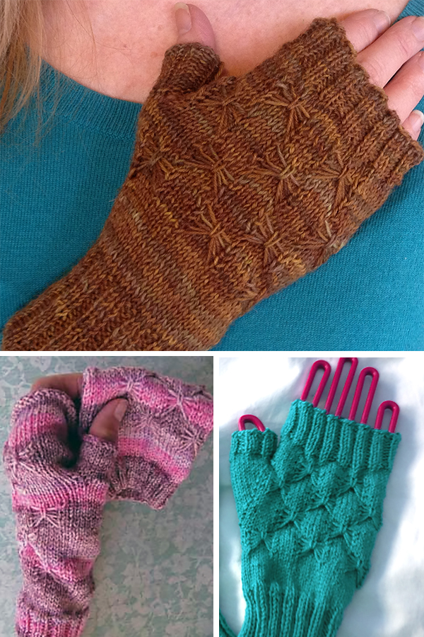 Free Knitting Pattern for Uproar of the Butterflies Mitts