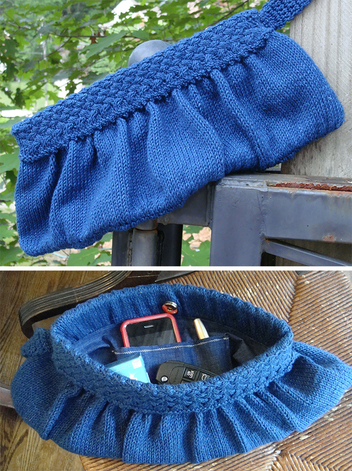 Free Knitting Pattern for Downtown Clutch