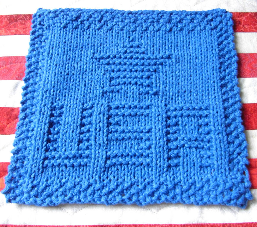 Free Knitting Pattern for USA Star Cloth