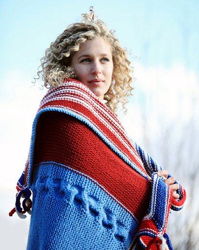 Free knitting pattern for USA Throw