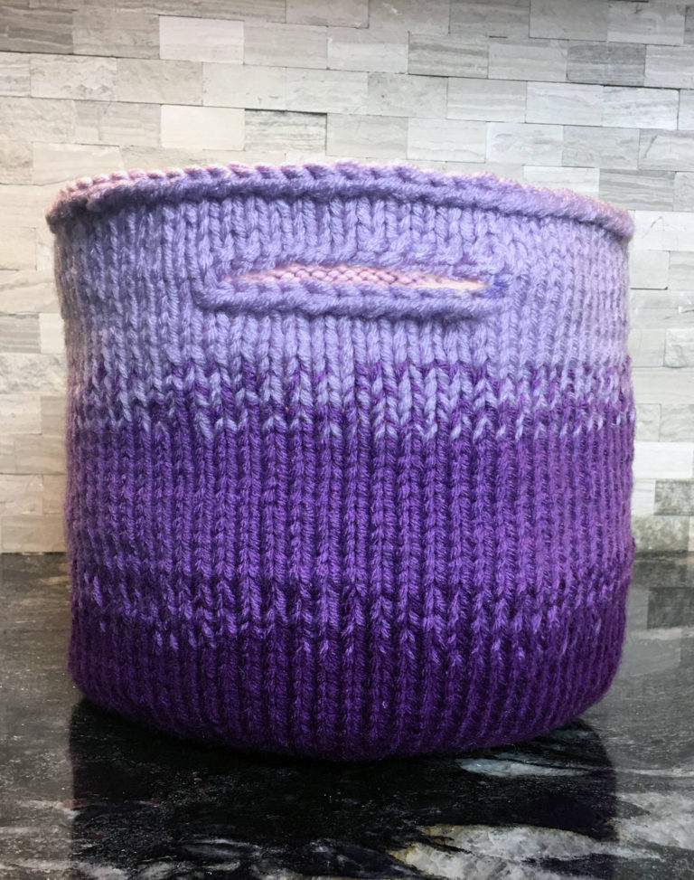 Knitting Pattern for Gradient Utility Basket