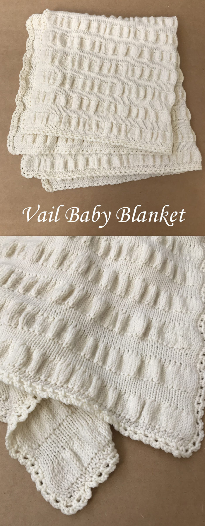 Knitting Pattern for Vail Baby Blanket
