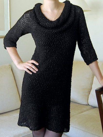 Knitting pattern for Little Black Dress