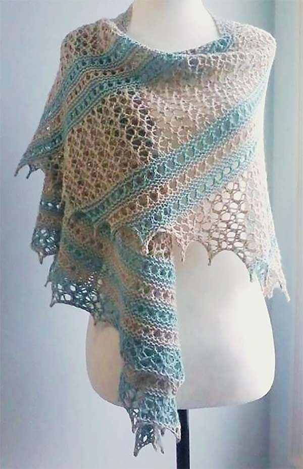 Knitting Pattern for Vancouver Fog Shawl