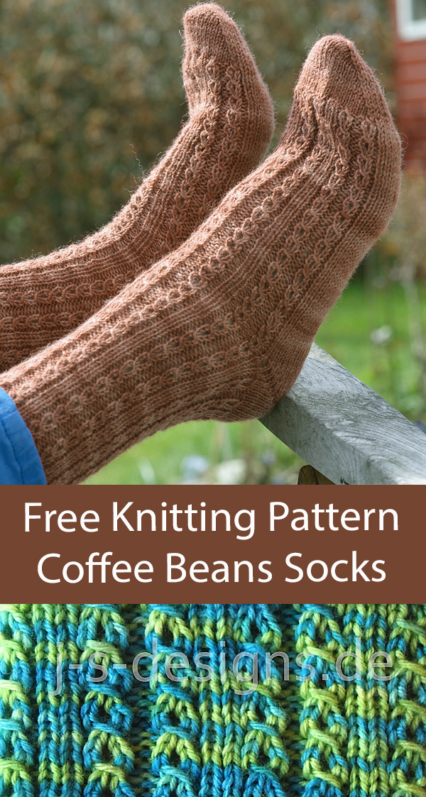Free Socks Knitting Pattern Coffee Beans Socks