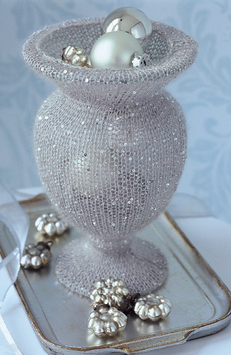 Free Knitting Pattern for Vase of Grace
