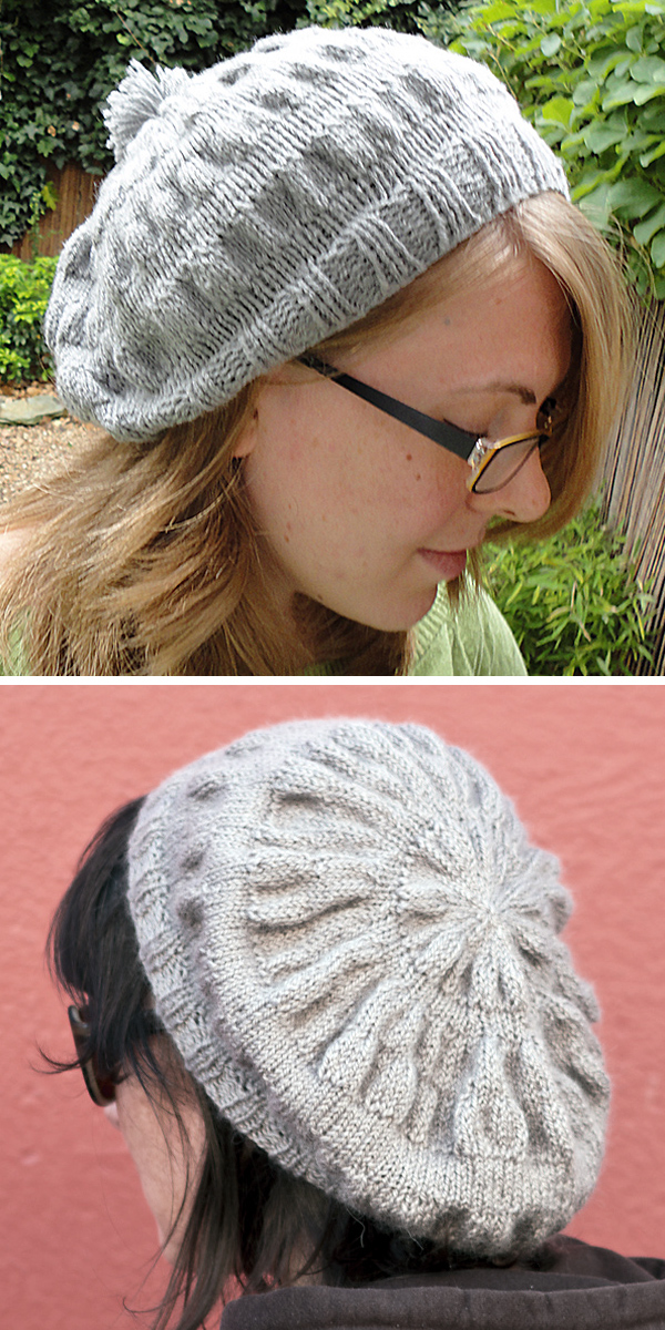 Free Knitting Pattern for Easy Vauxhall Park Beret