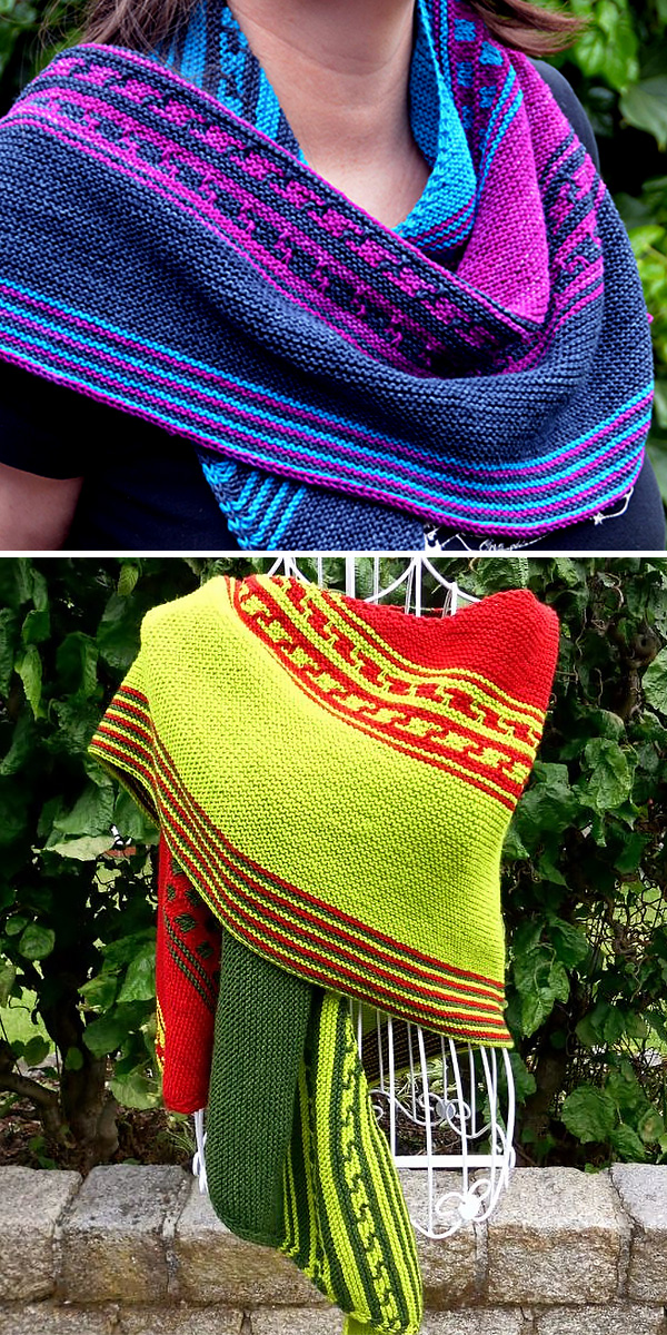 Free Knitting Pattern for Vela Shawl