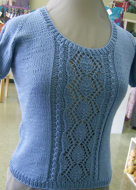 Free knitting pattern for Venezia Lace TShirt