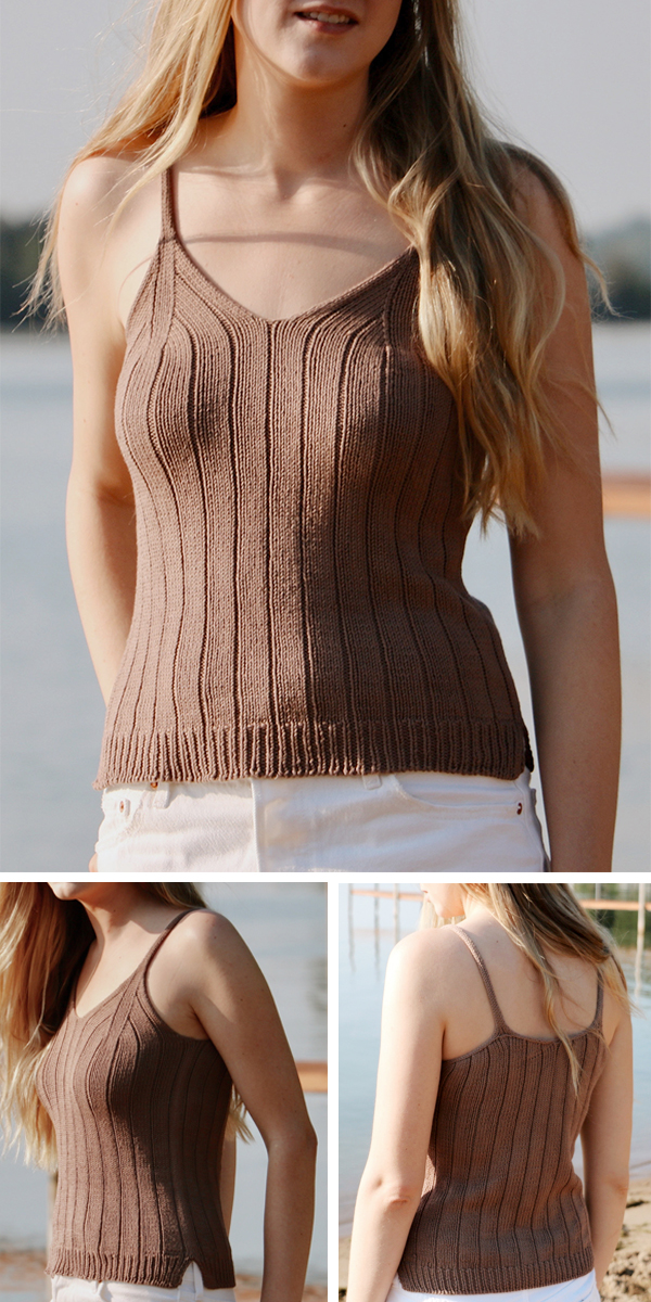 Knitting Pattern or Kit for Vera Tank