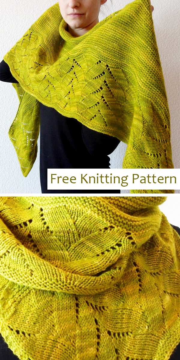 Free Knitting Pattern for Forget-me-not Shawl