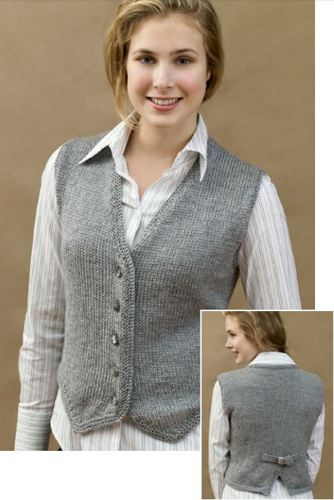 Free Knitting Pattern for Vested and Stylish