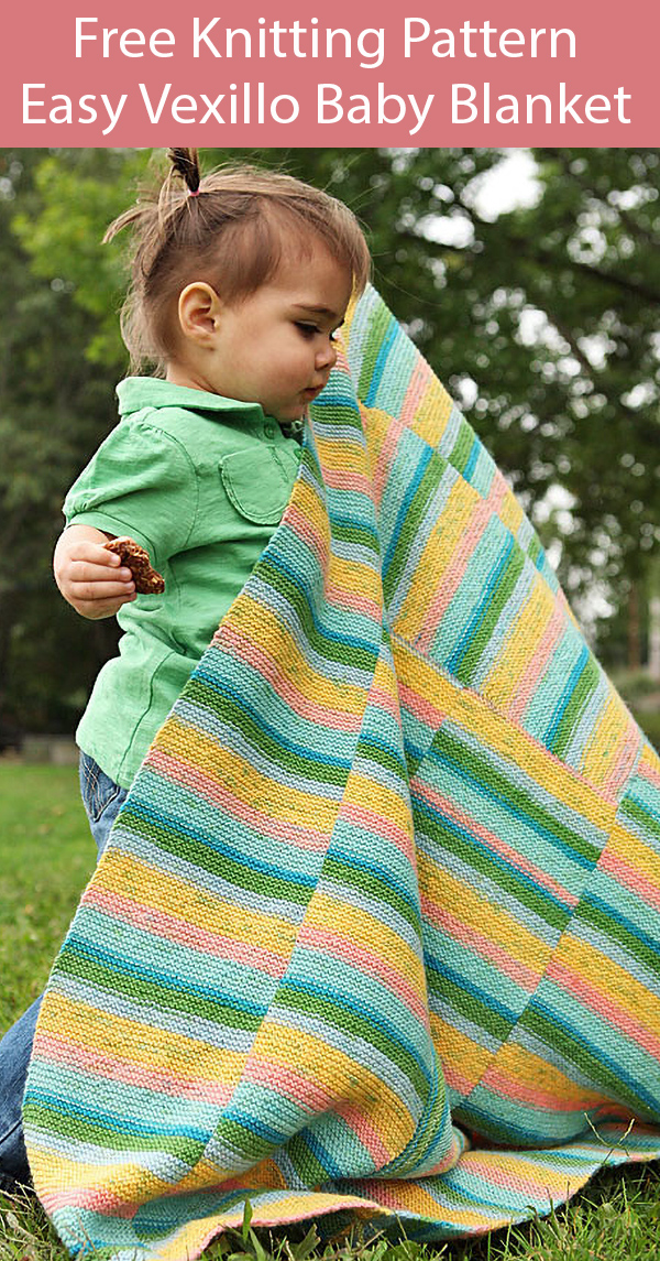 Free Knitting Pattern for Easy Vexillo Baby Blanket