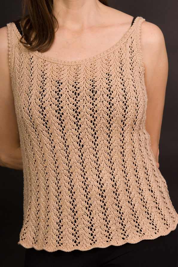 Knitting Pattern for 4 Row Repeat Victoria Tank