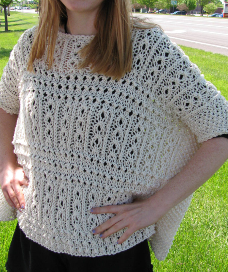 Knitting Pattern for Victorian Lace Ponchette