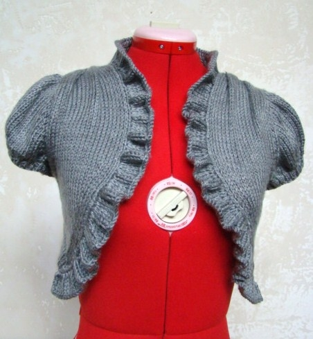 Vintage Knit Bolero Shrug Free Knitting Pattern | Knitting Patterns for Shrugs and Boleros, many free patterns at http://intheloopknitting.com/free-shrug-bolero-knitting-patterns/