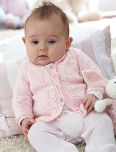 Top Down Vintage Cardigan Free Baby Knitting Pattern | Free Baby and Toddler Sweater Knitting Patterns including cardigans, pullovers, jackets and more http://intheloopknitting.com/free-baby-and-child-sweater-knitting-patterns/