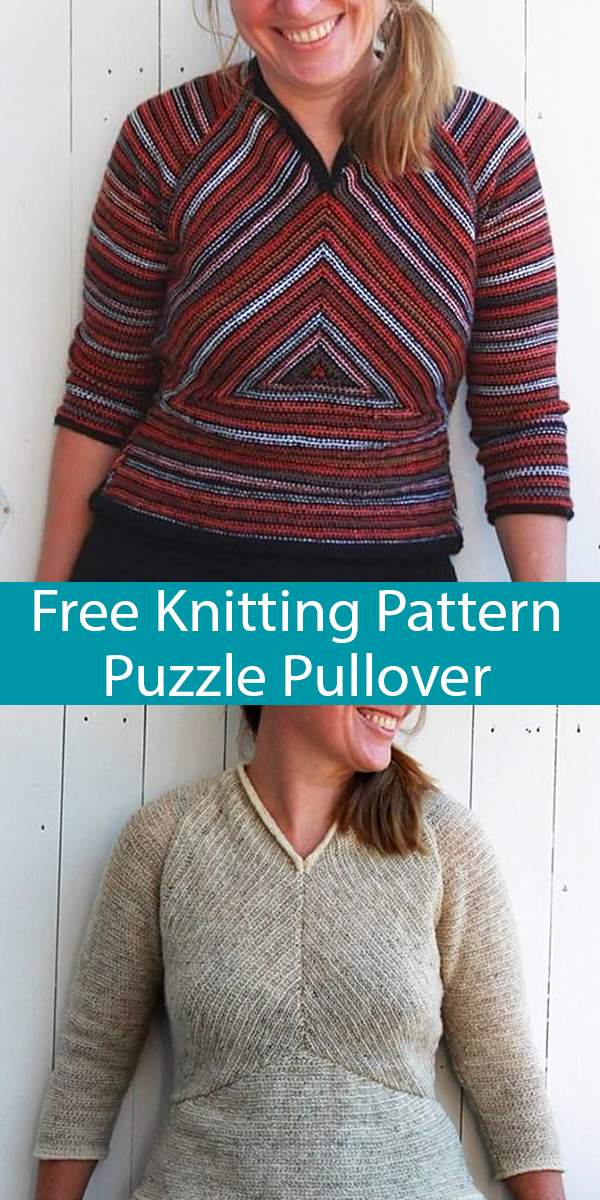 Free Knitting Pattern for Puzzle Pullover Sweater