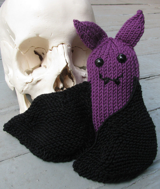 Free Knitting Pattern for Violet the Bat