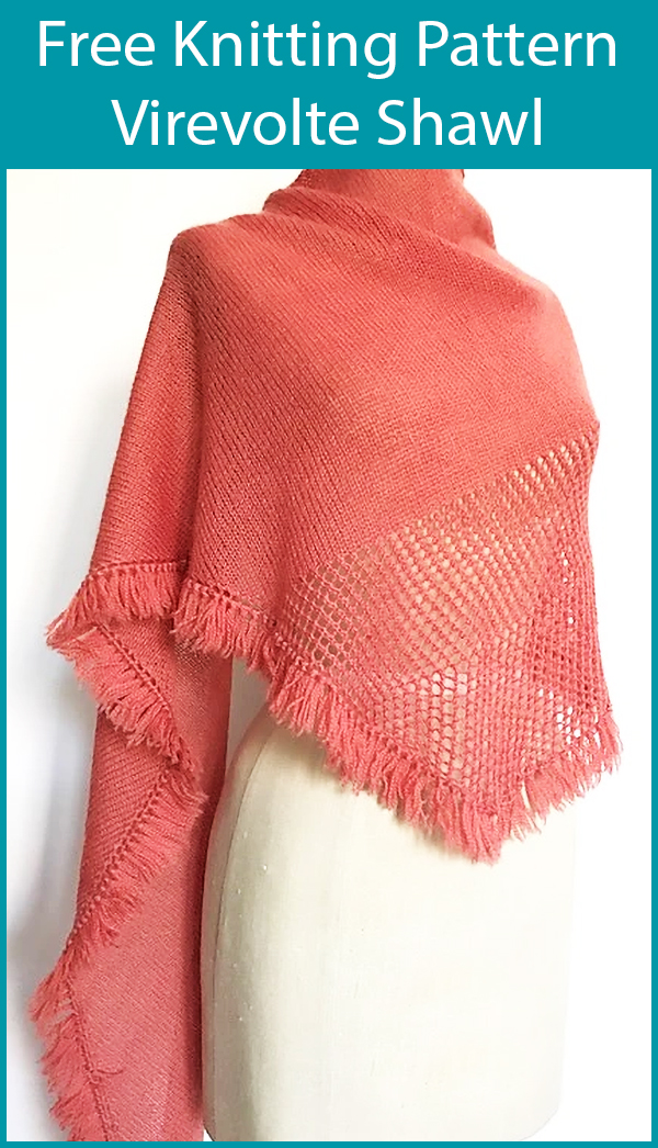 Free Knitting Pattern for Virevolte Shawl