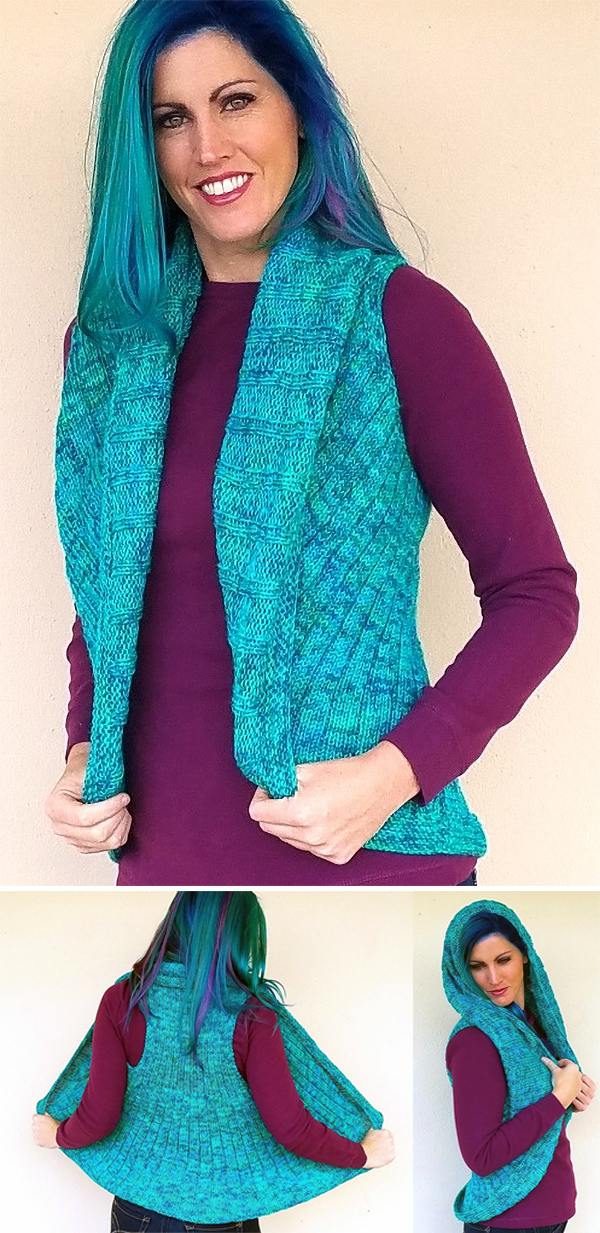 Free Knitting Pattern for Vivado Shrug