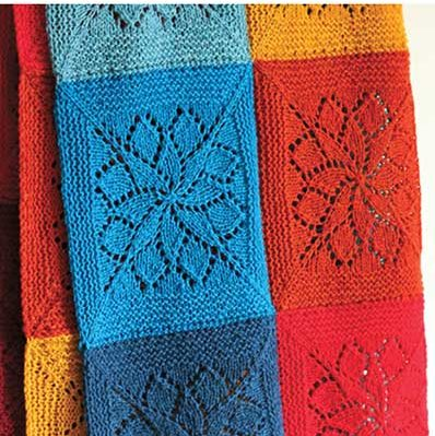 Knitting Pattern for Vivid Blanket