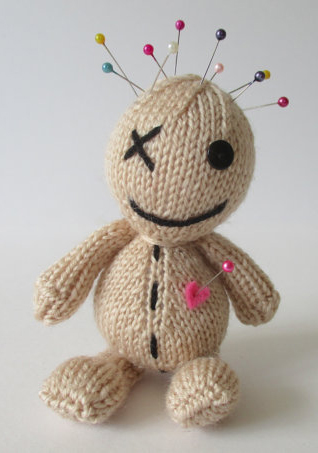 Knitting pattern for Voodoo Doll Pincushion