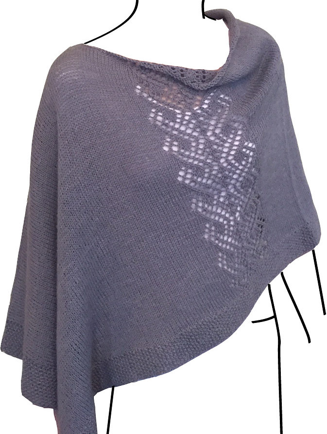 Free Knitting Pattern for Voyager Poncho