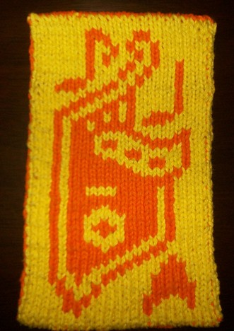 Free knitting pattern for Vulcan Lyre potholder