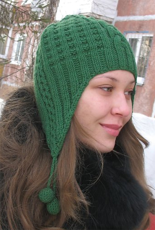 Free Knitting Pattern for Waffle Earflap Hat