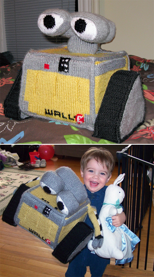 Free Knitting Pattern for Wall-E Inspired Robot