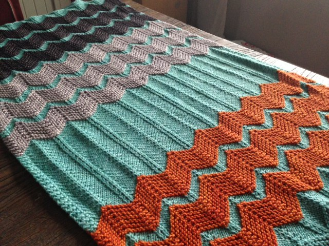 Free Knitting Pattern for Walt Painted Chevron Baby Blanket