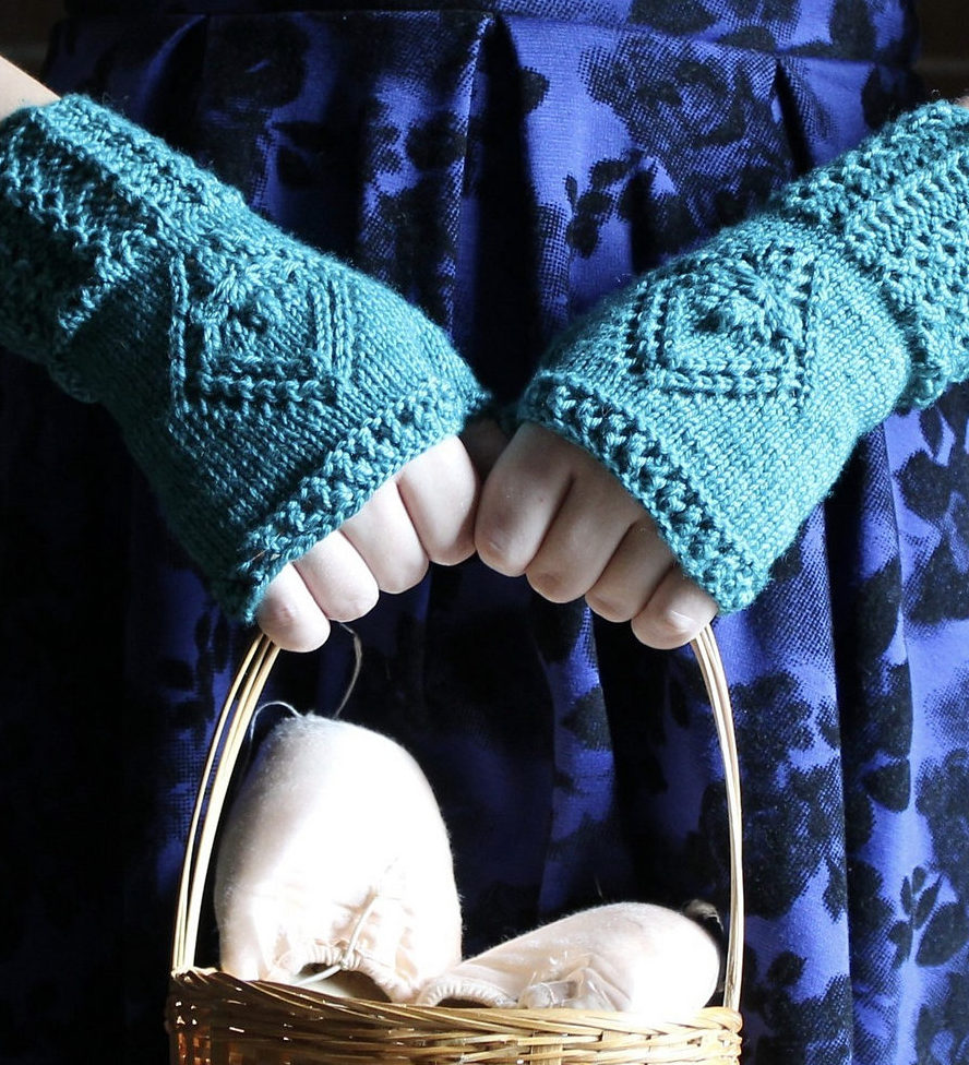 Free Knitting Pattern for Waltzing Mitts