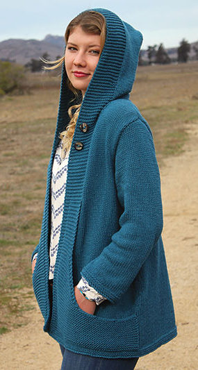 Knitting Pattern for Wanderlust Hooded Cardigan