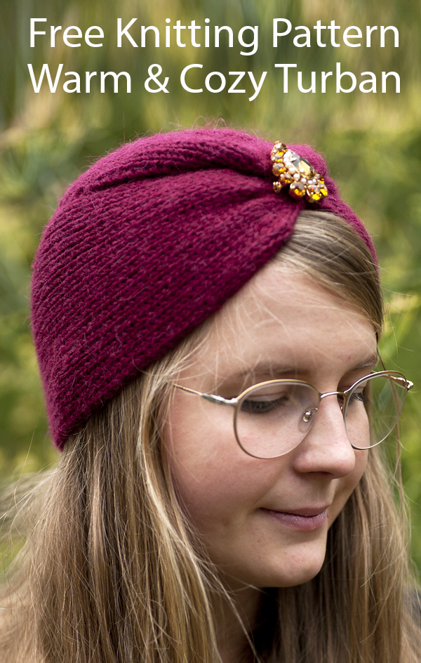 Free Hat Knitting Pattern for Warm & Cozy Turban