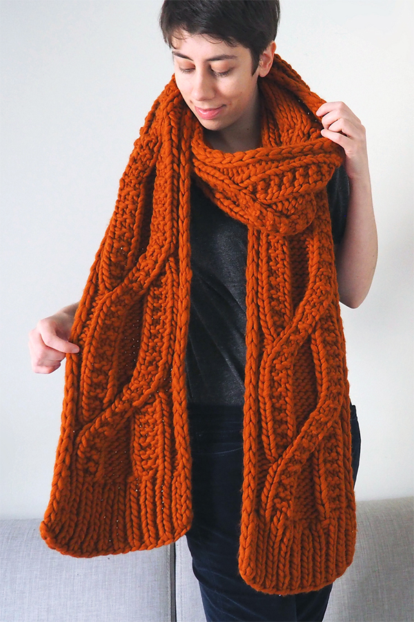 Knitting Pattern for Warm At Heart Scarf