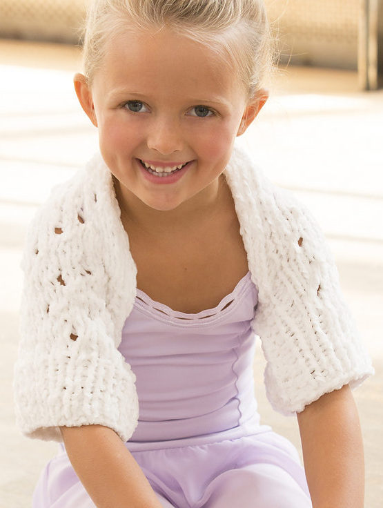 Free Knitting Pattern for Child's Warming Up Shrug