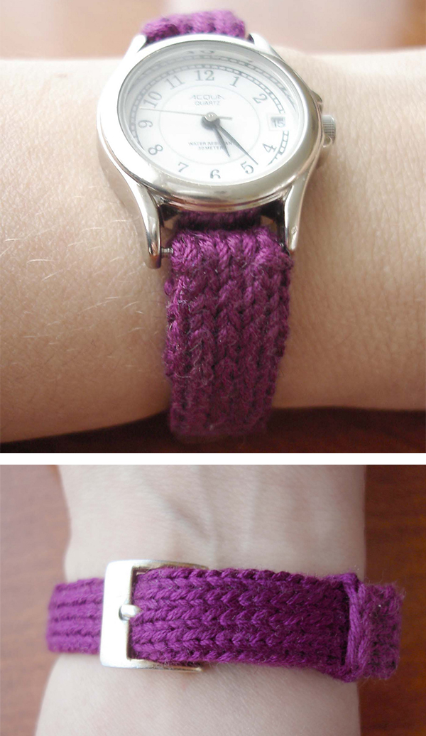 Free Knitting Pattern for Watch Strap