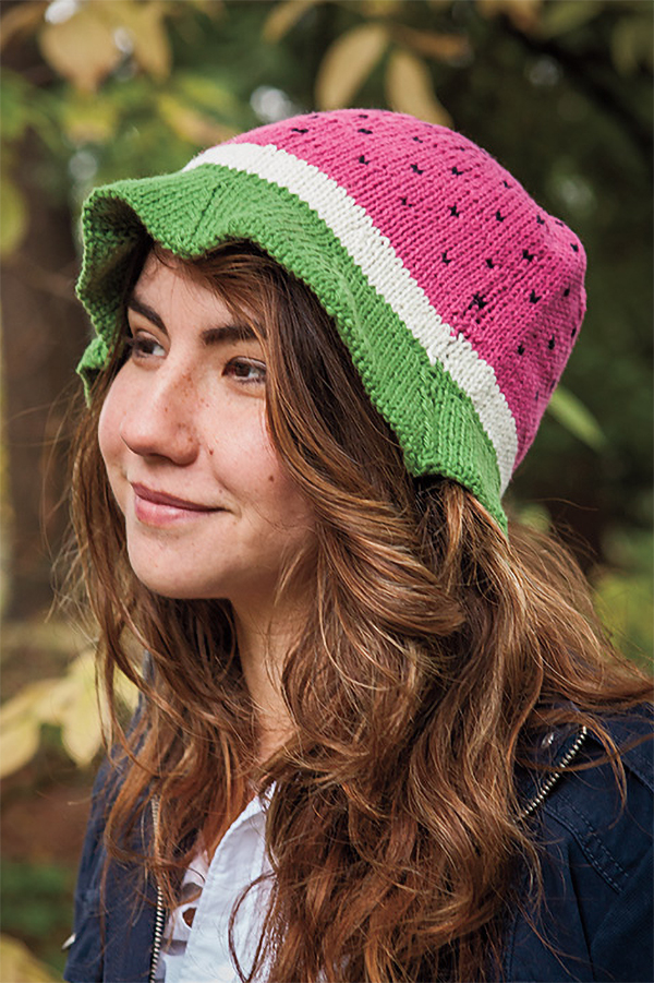 Knitting Pattern for Watermelon Hat