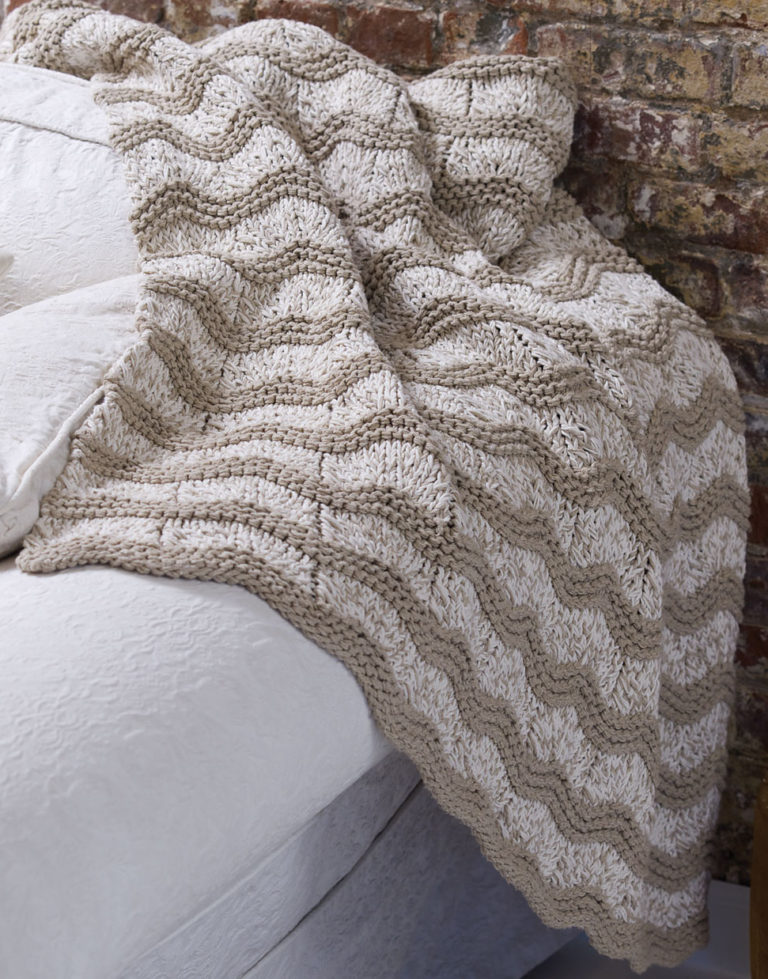 Free Knitting Pattern for Wave Afghan